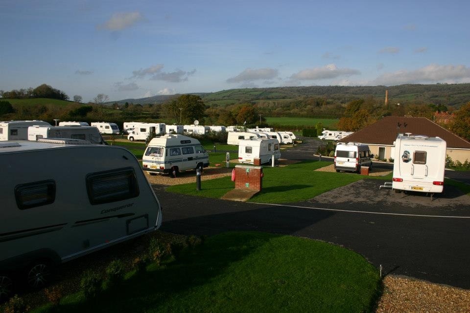 View of Wells Touring Park site