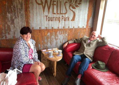 Wells Touring Park Cafe Lounge Relaxing
