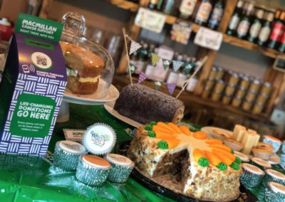 Wells Touring Park Cafe Lounge supporting Macmillan 2